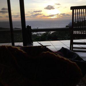 morgonstickning i soluppgngen presamedfamiljen bequia mariasgarn signalhat